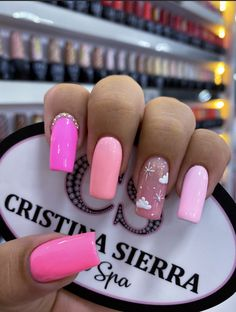 Dream Nails, Love Nails, Fun Nails, Pretty Nails, Nail Manicure, Nail Polish, Chistmas Nails, Hot Pink Nails, Best Acrylic Nails