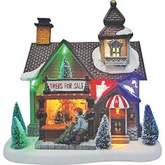 Santas Forest 29841 Christmas Village Tree Shop ** To view further for this item, visit the image link.