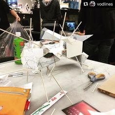 #Repost from 4th year Architecture Professor Victor Irizarry @vodlines  Nomadic Dreams: The Flying Islands Work in Progress sketch models#dailysketch #studentwork#asu#architecture#design#modernnomads#studio#architectureschool #asudesignschool #architecturestudent