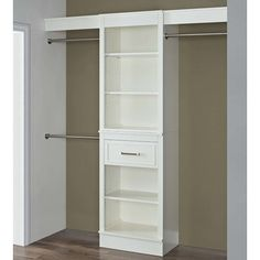 "Found it at Wayfair - 16"" Deep Wood Closet System"