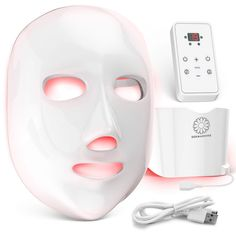 skin care Remedies facials - New Dermashine Pro 7 Color Wireless LED Face Mask Neck Attachment Led Light Therapy Mask, Red Light Therapy, Skin Care Remedies, Skin Care Tools, Face Skin Care, Korean Skincare, Skin Treatments, Healthy Skin, Anti Aging