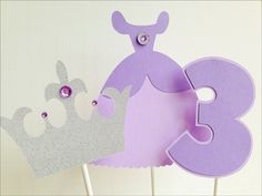 Sofia the First Cake Toppers by BMineOccasionDesign on Etsy, $8.00