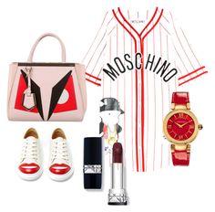 """Keep it up"" by frisofi-luna on Polyvore featuring moda, Moschino, Charlotte Olympia, Versace y Fendi"