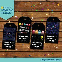 Pacman Birthday Invitation Pacman Invitations Pacman Party - Video game birthday invitation template