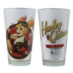 DC Comics Bombshells Harley Quinn Version 2 Pint Glass - Popfun Merchandising - Batman - Barware at Entertainment Earth