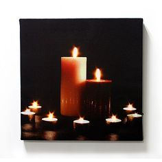 Kohls Candlelight LED Canvas Wall Art