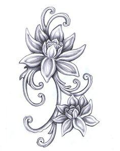 Lotus Flower Drawings for Tattoos in lotus flower drawing Lotus flower tattoo idea Pencil Drawings Of Flowers, Flower Tattoo Drawings, Flower Sketches, Flower Tattoo Designs, Flower Tattoos, Art Drawings, Neue Tattoos, Body Art Tattoos, Script Tattoos