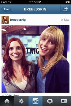 Two of my biggest women crushes, in one picture. I can die happily now.