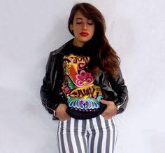Un outfit dal sapore rock e colorato per la primavera 2016.#kissmylook