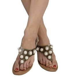 7331456d8a5351 Peach Couture Womens Pearl Studded Back Strap Sandals Flip Flops -- Many  thanks for viewing