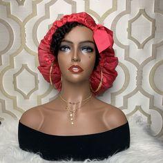 Silk lined hair bonnet Hair Bonnet, Silk Hair, Ribbon Design, Beauty Supply, African Fashion, Hair Care, Natural Hair Styles, Braids, Girly