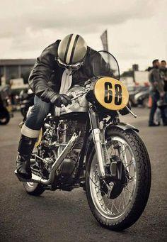 "bikesandroads: "" Norcette…Velocette engine Norton frame. """
