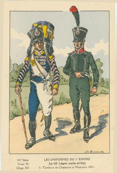 French; 10th Light Infantry, Chasseur Drummer & Musician, 1812