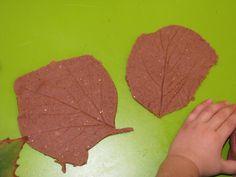 Autumn PLay Dough Leaf Prints5