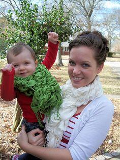 Ruffle scarves...looks like a cute easy homemade Christmas gift :)