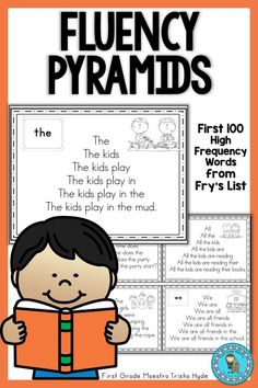 Help your students become fluent in reading High Frequency Words. These Fry's Word Fluency pyramids focus on the First 100 Fry's Sight words. Click the Visit Button to see all the resources in this packet. Fry Sight Words, Sight Word Sentences, Literacy Stations, Literacy Centers, Word Study, Word Work, Pre K Worksheets, Beginning Of Kindergarten, Guided Reading