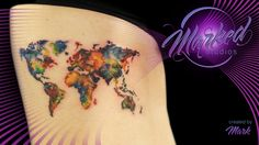 watercolor world rib piece abstract side map artistic color tattoo artist tat tats ink inked tattoos skin art body sexy flow fit form beauty painting tattooing tattooer ta2 marked studios reno nevada love