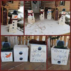 cute stackable snowman.  My sister made these and took the picture at her house...so cute!