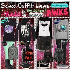 """School Outfit Ideas (Back To School Series)"" by tips-tips-tipss on Polyvore"