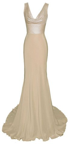 champagne coloured dress gown