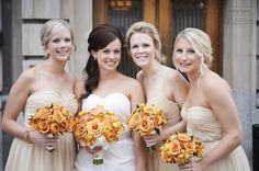 neutral bridesmaids | perry thompson photography