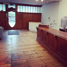 Amazing for our new 💜 shop space to be surrounded by so much of the polished dark wood of the original 'Dyers' shopfit. It adds so much to the atmosphere of the place, we love it! Handmade Furniture, Wooden Furniture, Rustic Style, Modern Rustic, Shop Buildings, Shop Fittings, Wood Joinery, Wood Interiors, New Shop