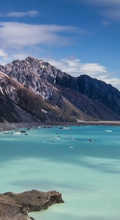 Tasman Glacier Lake, Aoraki - Mount Cook National Park, New Zealand