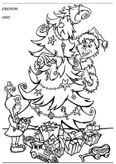 The Grinch Who Stole Christmas Coloring Pages Smiling Grinch