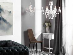 Kattokruunu valkoinen KALANG_695557 Beliani, Box Spring Bed, White Chandelier, Black Chandelier, Home Decor Decals, Sconces, Led Wall Lamp, Home Decor, Chandelier