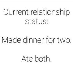 I think I'd like dinner for three actually, always gotta have a third wheel!!