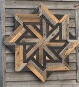 """Sawblade"" quilt block, Helderberg Trail, NY"