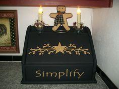 Primitive Bread Box or Storage Box-- Visit me at CranberryHillPrim on Facebook