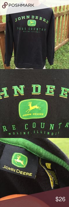 John Deere Mens Sweatshirt Size Large Size large. Super gently preowned. Be sure to view the other items in our closet. We offer  women's, Mens and kids items in a variety of sizes. Bundle and save!! We love reasonable offers!! Thank you for viewing our item!! John Deere Shirts Sweatshirts & Hoodies