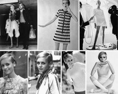 Twiggy in 60's fashion