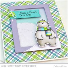 Handmade card from Debbie Olson featuring Birdie Brown Cool Day