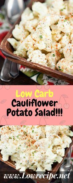 Low Carb Cauliflower Potato Salad!!! - Low Recipe