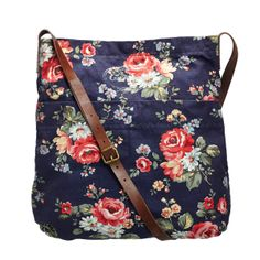Cross Body Bags | Kentish Rose Leather Strap Messenger Bag | CathKidston ...ouchh so cool, but when I will be to buy it? huhuhu for original hanya ada di UK!