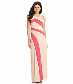 Gianni Bini Pinky Paneled Maxi Dress #Dillards