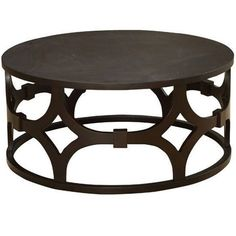 Lowest price online on all Armen Living Tuxedo Round Coffee Table in Natural - LCTUCO