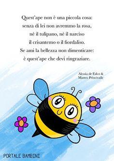 FILASTROCCA DELLE API | Portale Bambini Bug Hotel, Queen Bees, Pre School, Smiley, Diy For Kids, Tweety, Activities For Kids, Homeschool, Education
