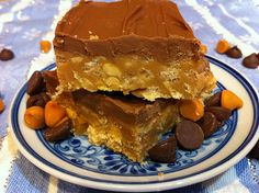 Peanut Butterscotch Bars.  I've made a similar recipe with Special K Cereal before.  Yum