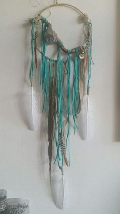 Dreamcatcher handmade by Absolute Bliss. Her name is SA TRINXA.. and she will keep you safe at night ♡