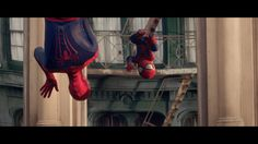 The Amazing Spider-Man amazed by his baby-me #evianSpiderMan