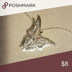 3 dimensional silver butterfly necklace Dekicate 3 dimensional silver butterfly necklace on a 16 in chain Jewelry Necklaces