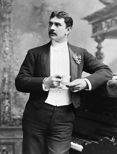 Maurice was a wit and a talented performer to whom there were two abiding mysteries in life: he never correctly estimated either his bank account or his capacity to hold liquor.  Lionel Barrymore on his father Maurice Barrymore  [Photographed: Herbert Blythe aka. Maurice Barrymore 1891]
