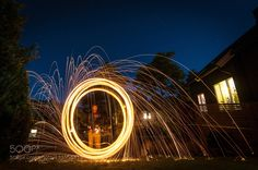 First foray into burning steel wool photo! - Pinned by Mak Khalaf Abstract ExposureSteelwool by anderslokke