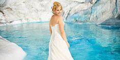 6 Stunning Photos of a Bride Trashing Her Dress on a Glacier -Cosmopolitan.com