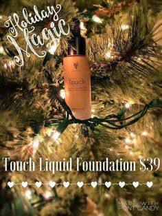 Holiday magic with younique's Touch Liquid Foundation. Full coverage with light feel! Dawnsneverendinglashes.com