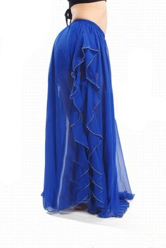 Long Pattern Jag Design Belly Dancing Skirt (ROYAL BLUE,FREE SIZE) | Sammydress.com