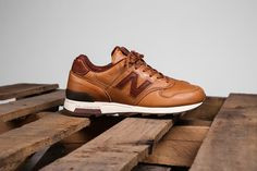 Chestnut leather New Balance sneakers